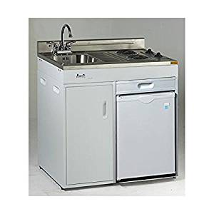 """Avanti CK3616 36"""" Energy Star Rated Complete Compact Kitchen Stainless Steel Sink and White body"""